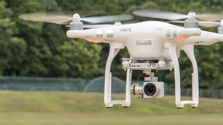 The DJI Phantom 3 Advanced Quadcopter Drone